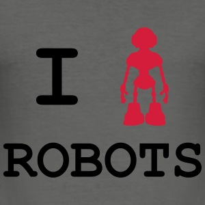 I Love Robots Gensere - Slim Fit T-skjorte for menn
