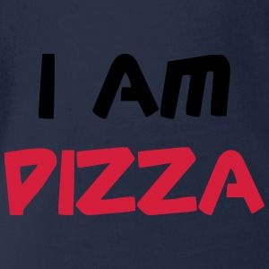 I am Pizza Shirts - Baby bio-rompertje met korte mouwen