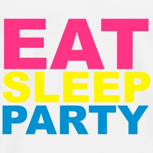 Eat Sleep Party Sweaters - Mannen Premium T-shirt