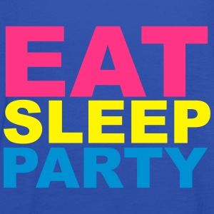 Eat Sleep Party Camisetas - Camiseta de tirantes mujer, de Bella