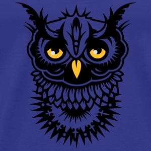 Face of an owl Hoodies - Men's Premium T-Shirt
