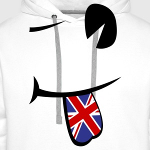 Union Jack Tongue  Tee shirts - Sweat-shirt à capuche Premium pour hommes