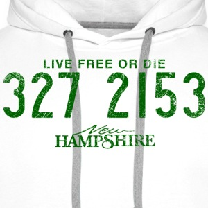 New Hampshire - Live Free or Die - Sweat-shirt à capuche Premium pour hommes