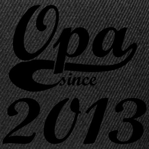Opa since 2013 Pullover & Hoodies - Snapback Cap