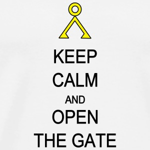 Open the Gate Phone & Tablet Cases - Men's Premium T-Shirt