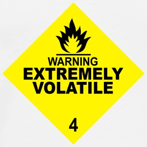warning extremely volatile square II 2c Teddies - Men's Premium T-Shirt