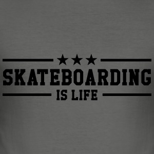 Skateboarding Gensere - Slim Fit T-skjorte for menn