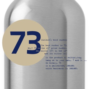 73 the best number BIG BANG Physiker Lehrer - Trinkflasche