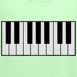 Piano Keys Design T-skjorter - Singlet for kvinner fra Bella