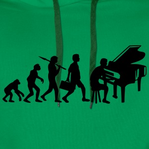 Piano Music Evolution T-skjorter - Premium hettegenser for menn
