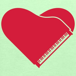 Piano Heart Love Design T-skjorter - Singlet for kvinner fra Bella