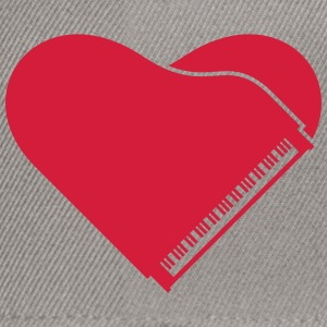 Piano Heart Love Design T-shirts - Snapbackkeps