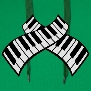 Piano Keys Pattern Design T-skjorter - Premium hettegenser for menn