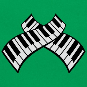 Piano Keys Pattern Design T-skjorter - Retro veske