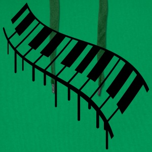 Piano Keys Graffiti Design T-skjorter - Premium hettegenser for menn