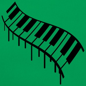 Piano Keys Graffiti Design T-skjorter - Retro veske