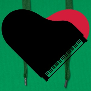 Piano Heart Love Design T-skjorter - Premium hettegenser for menn