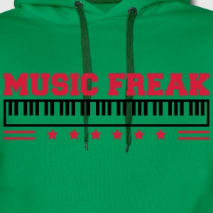Music Freak Paino Design T-shirts - Herre Premium hættetrøje