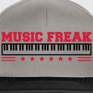 Music Freak Paino Design T-shirts - Snapback Cap