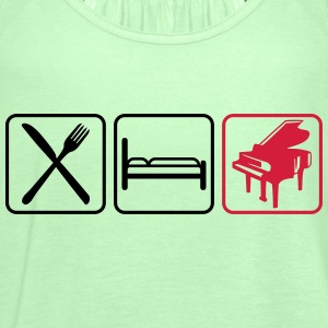 Eat Sleep Piano Logo Design Tee shirts - Débardeur Femme marque Bella