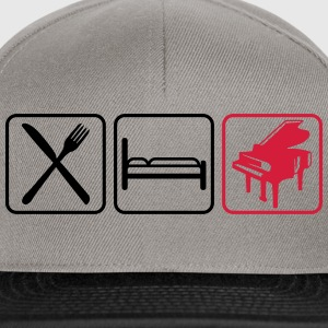 Eat Sleep Piano Logo Design T-Shirts - Snapback Cap
