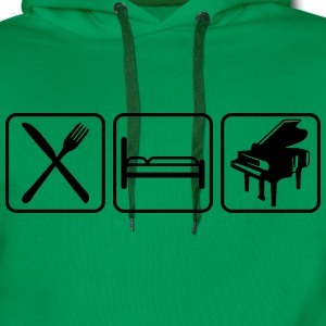 Eat Sleep Piano Logo Design Koszulki - Bluza męska Premium z kapturem