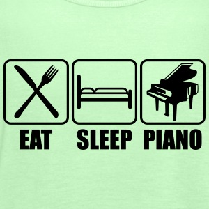 Eat Sleep Piano Logo T-skjorter - Singlet for kvinner fra Bella
