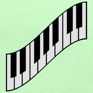 Cool Piano Keys Design T-skjorter - Singlet for kvinner fra Bella