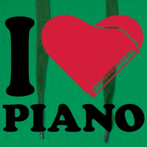 I Love Piano Heart Design T-skjorter - Premium hettegenser for menn