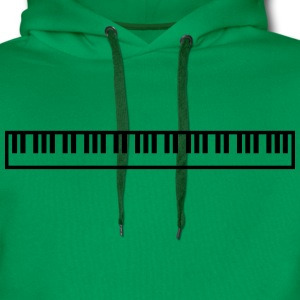 Cool Piano Keys Music Design T-skjorter - Premium hettegenser for menn