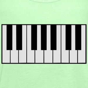 Piano Keys Design T-Shirts - Women's Tank Top by Bella