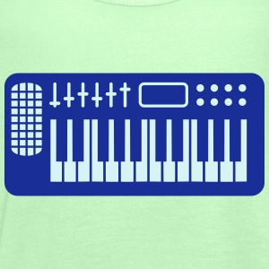 Keyboard Piano Design T-Shirts - Women's Tank Top by Bella