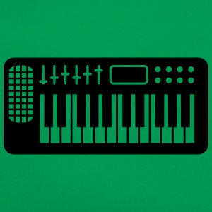 Keyboard Piano Design T-skjorter - Retro veske