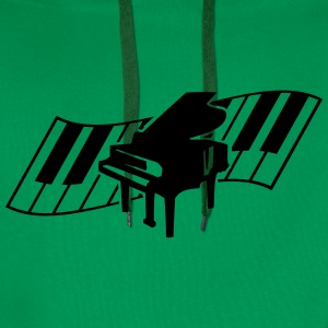 Piano Keys Music Design T-skjorter - Premium hettegenser for menn