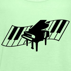 Piano Keys Music Design T-skjorter - Singlet for kvinner fra Bella