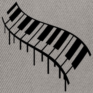 Piano Keys Graffiti Design T-shirts - Snapbackkeps