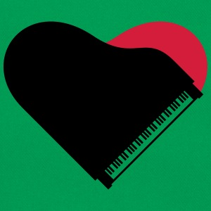 Piano Heart Love Design T-skjorter - Retro veske