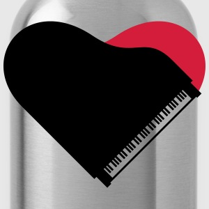 Piano Heart Love Design Tee shirts - Gourde