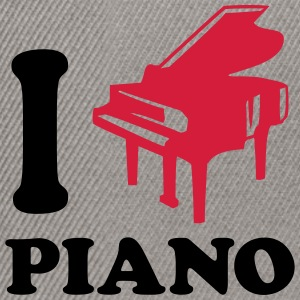 I Love Piano Logo Design T-shirts - Snapbackkeps