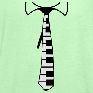 Piano Tie Design T-Shirts - Women's Tank Top by Bella