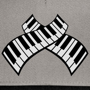 Piano Keys Pattern Design T-shirts - Snapbackkeps