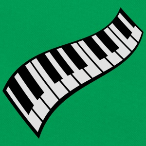 Piano Keys Pattern T-skjorter - Retro veske