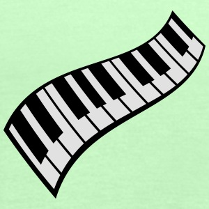 Piano Keys Pattern T-Shirts - Women's Tank Top by Bella