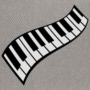 Piano Keys Pattern T-shirts - Snapback cap