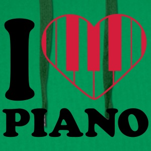 I Love Piano Design T-skjorter - Premium hettegenser for menn