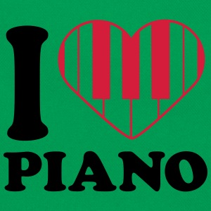 I Love Piano Design T-skjorter - Retro veske