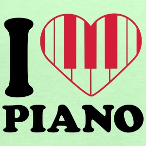 I Love Piano Design T-skjorter - Singlet for kvinner fra Bella