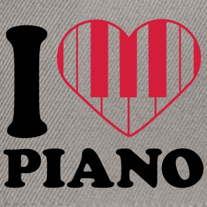 I Love Piano Design T-shirts - Snapbackkeps