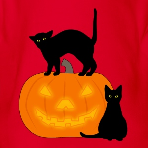 cat and pumpkin T-shirts - Ekologisk kortärmad babybody