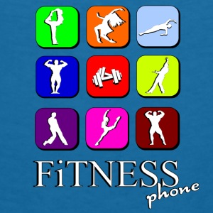 Fitness phone Accessories - Dame-T-shirt med V-udskæring